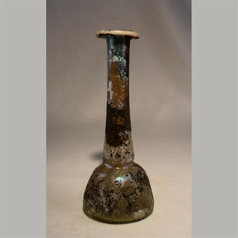 ancient glass ancient glass elongated neck unguentarium