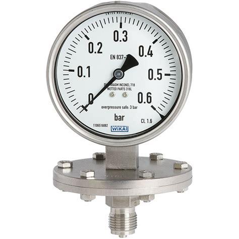 Manometer 4kg 1 4 diaphragm pressure 432 50 433 50 wika australia