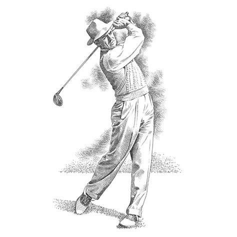swing illustration golf portraits archives golf illustration