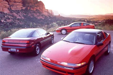eagle talon and plymouth laser mitsubishi cars with pentastars lasers