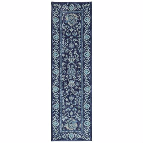 the jackson collection rugs home decorators collection jackson indigo 2 ft x 7 ft rug runner 495947 the home depot
