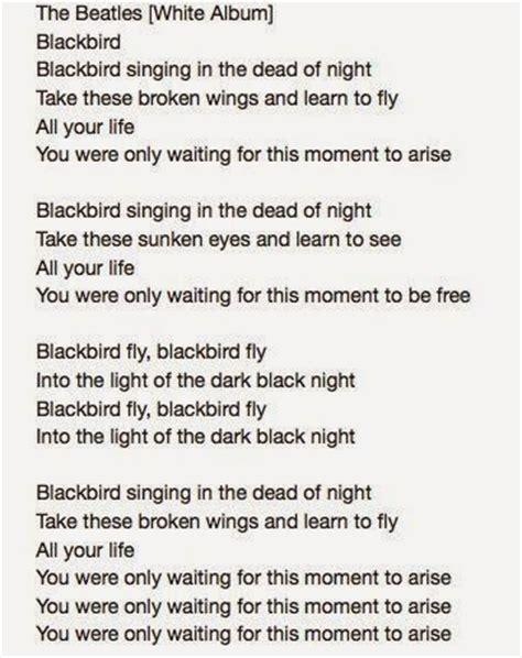 black beatles lyrics blackbird beatles lyrics