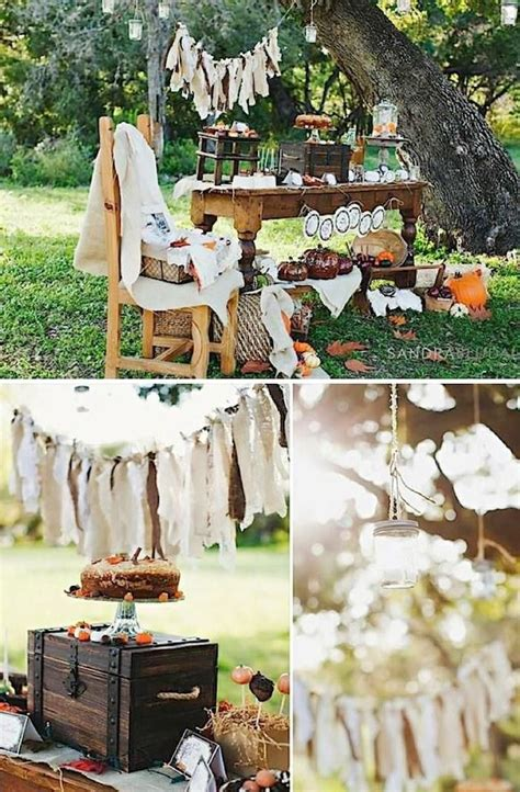 Fall Decorating Ideas For Baby Shower Rustic Fall Thanksgiving Dessert Baby Shower