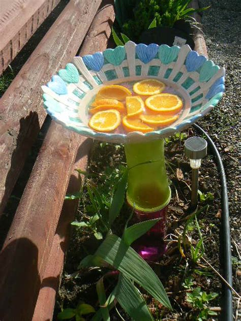 hometalk crafts   backyard glass flower plates