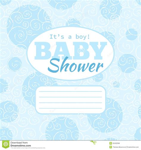 invite baby shower vector vector blue baby shower party invitation baby boy with