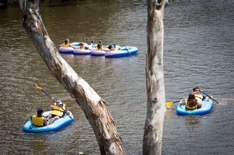 inflatable boat yarra river armada of inflatables on the yarra