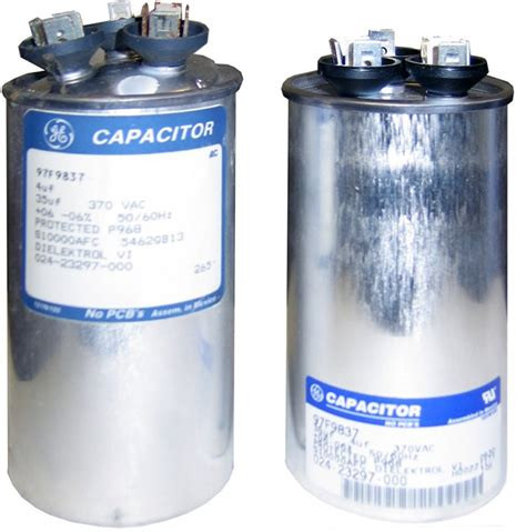 dual run capacitor failure i a central a c split type conventional not heat