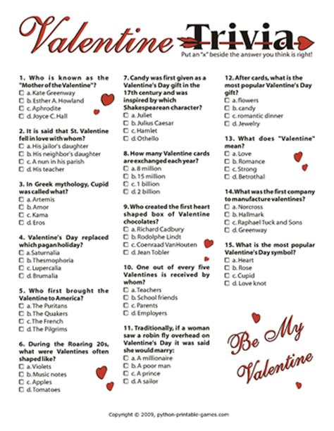 valentines day questions pack printable