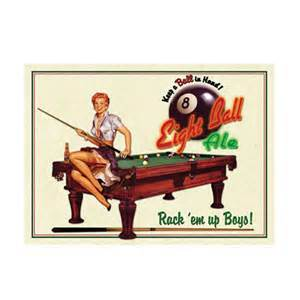 pin up home decor eight ball ale tin sign vintage beer pin up girl home bar