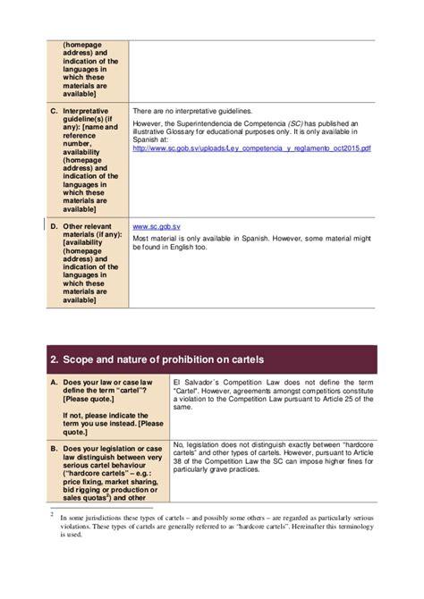 enforcement templates anti cartel enforcement template