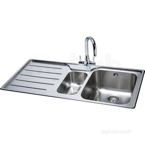 Square Kitchen Sink With Drainer Square 1 5 Bowl Kitchen Sink With Left Handed Drainer Carron