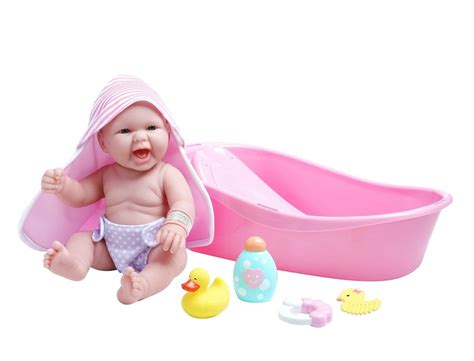 Baby Doll 1 Set jc toys la newborn 13 quot berenguer baby bath gift set 18370 tub baby doll new ebay