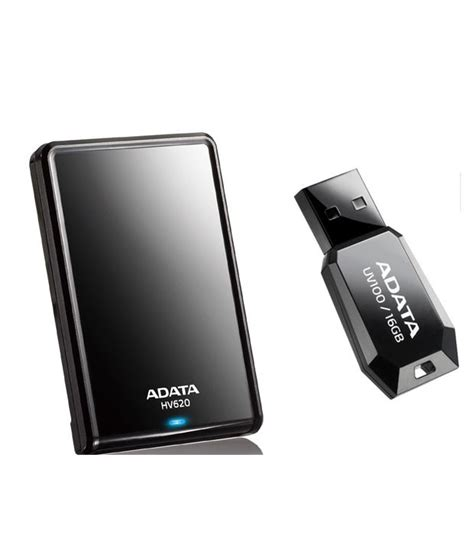 Hardisk Adata Adata Hv620 2tb Disk Black With Free Adata Uv100 16gb Pen Drive Black Buy Rs