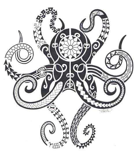 polynesian octopus tattoo designs tribal tattoos on tribal