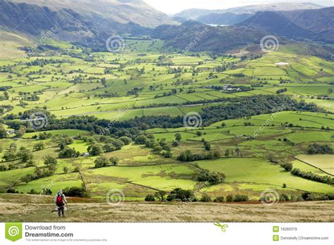 green valley landscape royalty free stock images