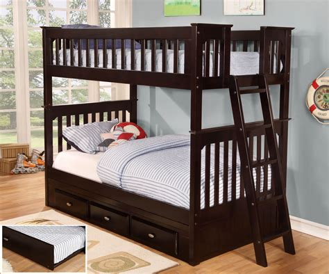 discovery world furniture espresso mission bunk bed twintwin ebay