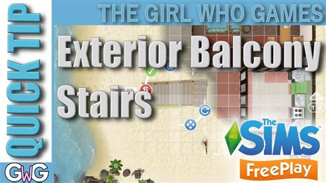 sims freeplay adding exterior balcony stairs