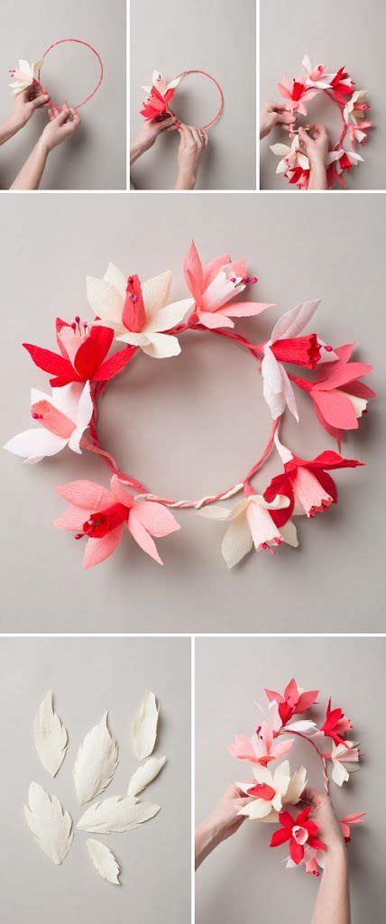 How To Make A Flower Crown Out Of Paper - 7 absolutely beautiful and adorable diy flower crown ideas