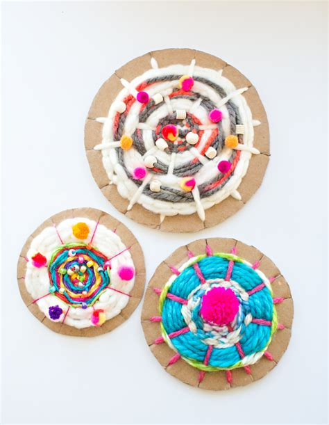 weave a circle a novel books hello wonderful easy cardboard circle weaving for