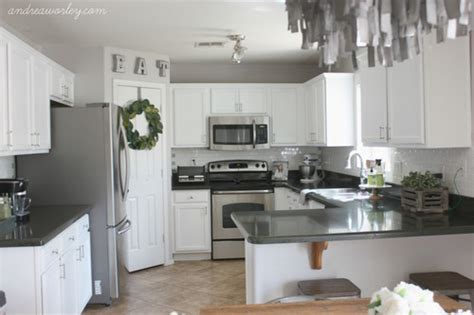 Kitchen Cabinet Designs And Colors kitchen in snow white milk paint general finishes design