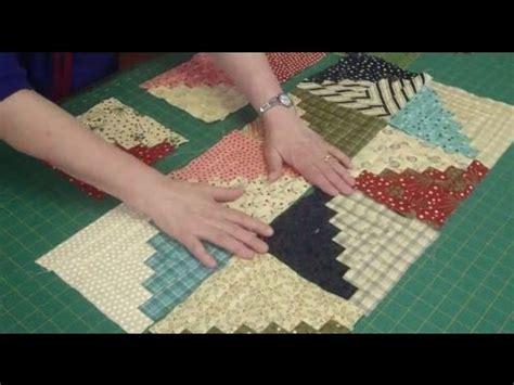 tutorial video star log cabin quilt block using honey bun strips youtube