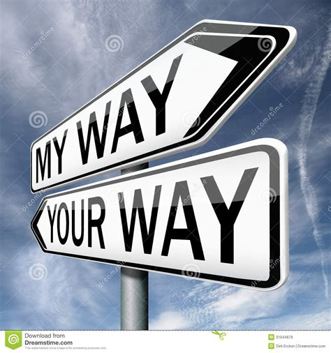 my or my your or my way road sign arrow stock image image 31044679