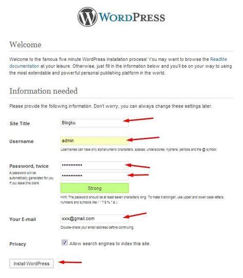 cara membuat wordpress offline menggunakan xp cara install wordpress di localhost menggunakan xampp my