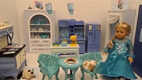Mainan Kitchen Set Frozen With Doll american doll disney frozen elsa s kitchen in hd