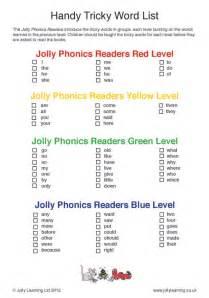 handy tricky word list jolly learning jolly learning