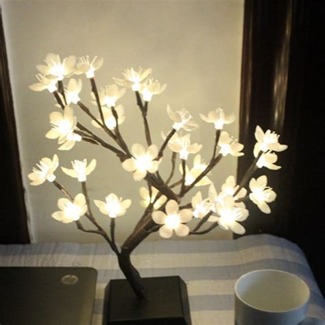 mini plum blossom led flower tree night light christmas