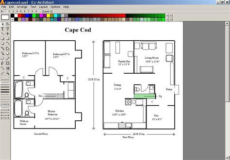 free floor plan drawing software download ez architect 5 0 screenshots