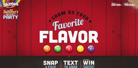 Skittles Sweepstakes - skittles awesomest summer party sweepstakes summer skittles com snap text win