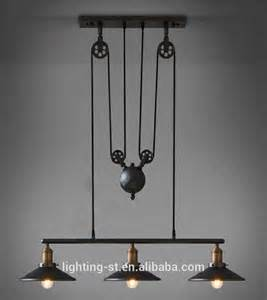 Pulley Light Fixture Artistic Pendant Light With 3 Lights In Pulley Block