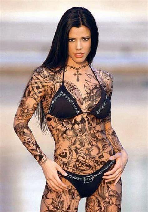 body tattoo on woman black full body tattoo for women inofashionstyle com