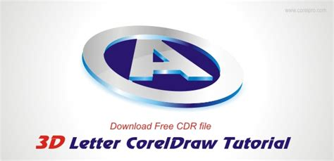 3d logo design in coreldraw tutorial 3d logo design tutorial