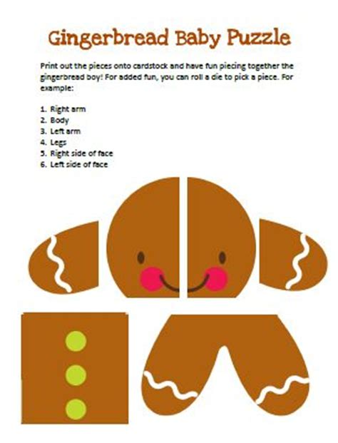 gingerbread man puzzle printable 17 best images about gingerbread man projects on pinterest