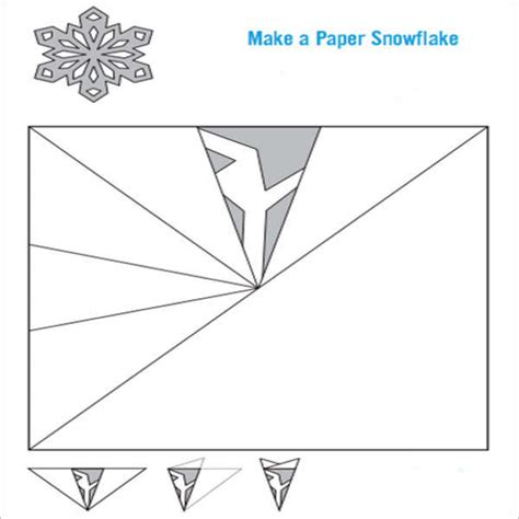 How To Make A Snowflake Out Of Construction Paper - snowflake template 7 free pdf