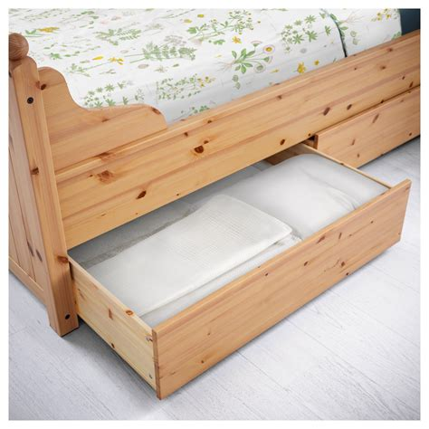 ikea hurdal bed hurdal bed frame with 4 storage boxes light brown lur 246 y