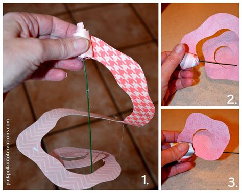 How To Make Rolled Paper Flowers - rolled paper flowers pink polka dot creations