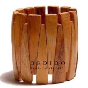philippines bayong wood elastic bangle phjy038bl - Handmade Wooden Products