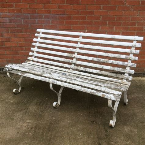 antiques atlas pair  vintage garden benches
