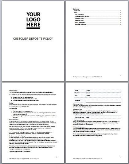 30 Best Business Documents Images On Pinterest Template Business And Role Models Customer Service Policy Template