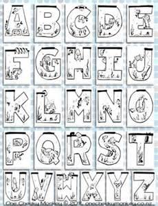 photo of printable aquarium alphabet colouring pages