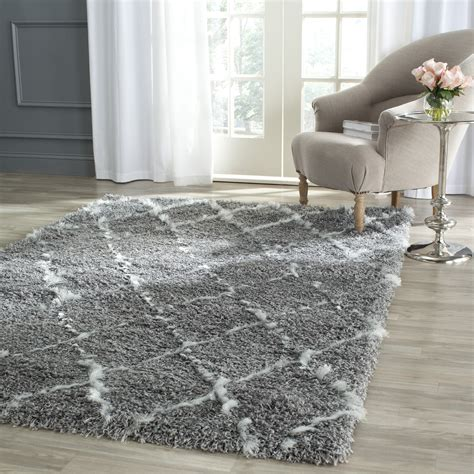 safavieh moroccan rug safavieh grey ivory moroccan shag area rugs msg343b ebay