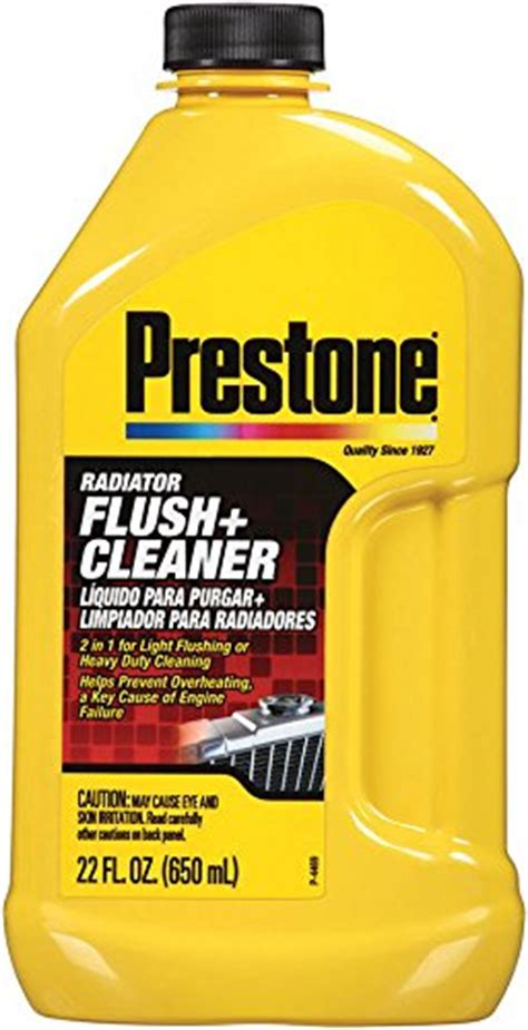 Prestone Radiator Flush Cleaner 2in1 Light Flushing And Heavy Duty coolant