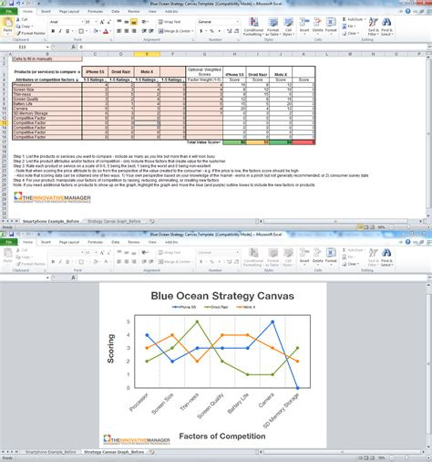 map strategy map template excel