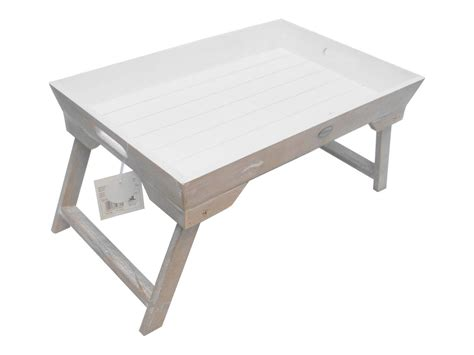 Folding Bed Tray White Wooden Breakfast Folding Laptop Tray Breakfest Bed Laptray Wf1494 Ebay