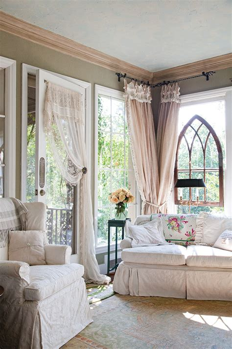 cottage curtains vintage living rooms on pinterest shabby chic shabby