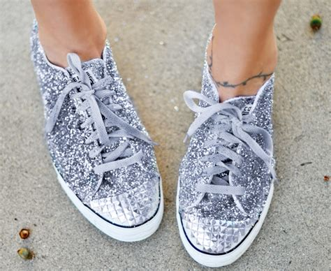 diy sequin shoes glitter sneaker diy miu miu shoe inspired maegan