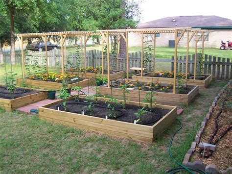 How To Set Up A Vegetable Garden Bed Trellis Design Question Home Brew Forums